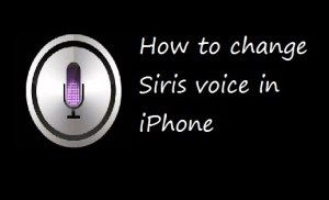 How to change Siris voice in iPhone