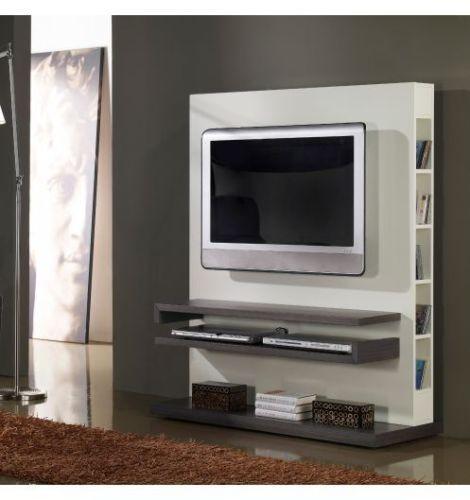 Meuble TV Design Gris ET Blanc Laqué Cubic  eBay  Meubles  Pinterest  TVs -> Meuble Tv Design Ebay