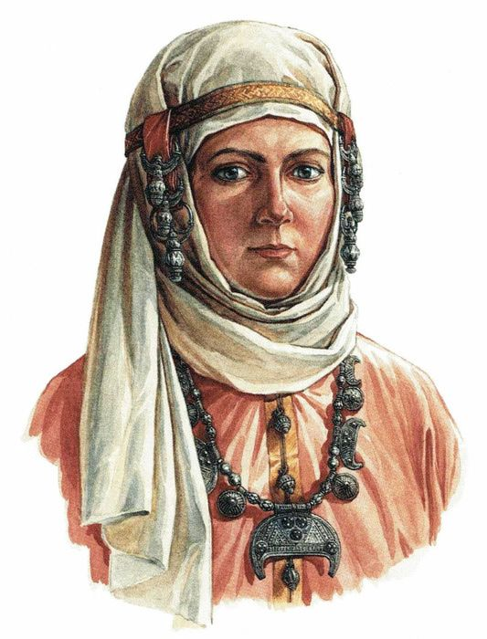 Woman who liuved in Gnezdovo, Russia, in the 10th century. Based on the archeological finds in the area.