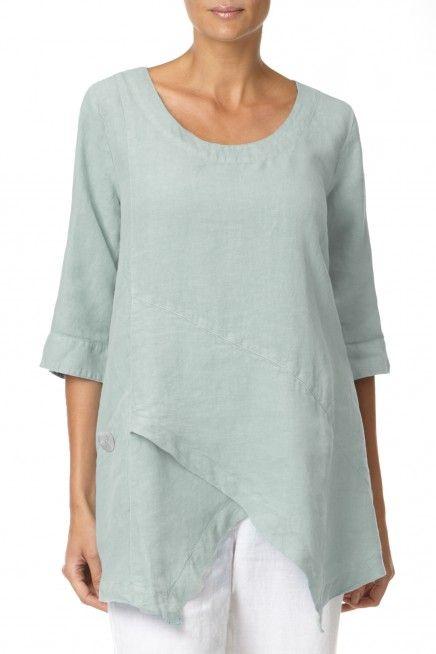 Sahara Asymmetric Linen Tunic | Linen Shop | Sahara