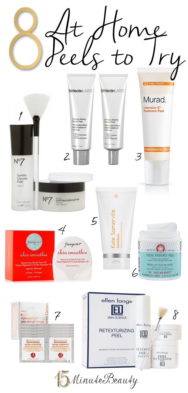 The Best At Home Skin Peels via 15MinuteBeauty.com