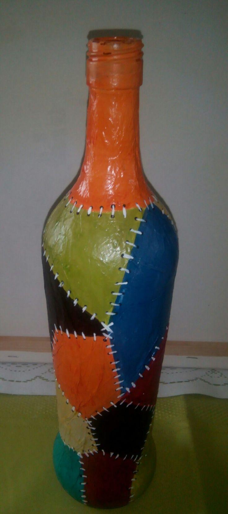 Botella imitación cuero