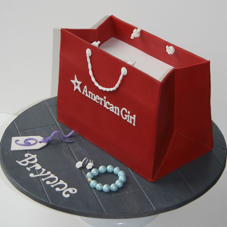 American Girl Shopping Bag Cake