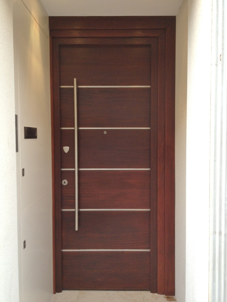 Contemporary design for London door built by Devon Custom Joinery & 21 best Doors images on Pinterest   Carpentry Joinery and Oak doors