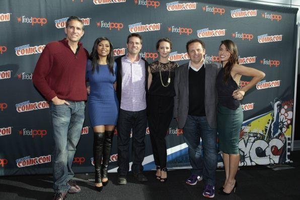 Jim Caviezel and Taraji P. Henson, executive producer Greg Plageman, and stars Amy Acker, Kevin Chapman and Sarah Shahi.