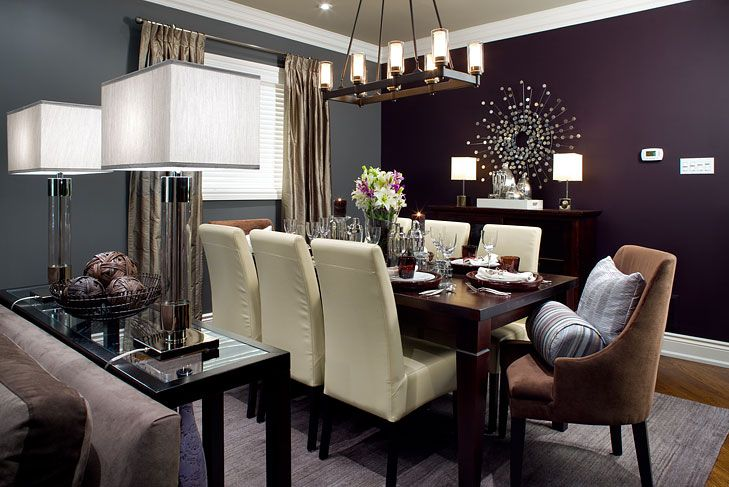 Beautiful dark purple wall (With images) | Purple dining ...