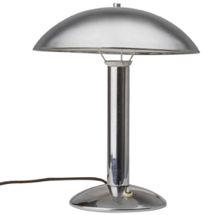 HŮRKA JOSEF, NAPAKO  Stolní lampa zn. NAPAKO, v. č. 8239, Československo, 30. léta 20. stol., chromovaný obecný kov, jednoplamenná stolní lampa, kruhová základna, půlkruhové stínidlo, výška 40 cm
