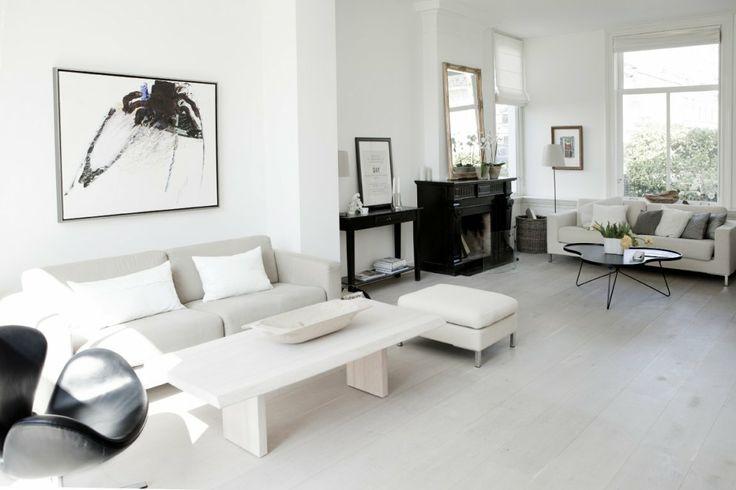 Sofabord, hvidvaskede planker