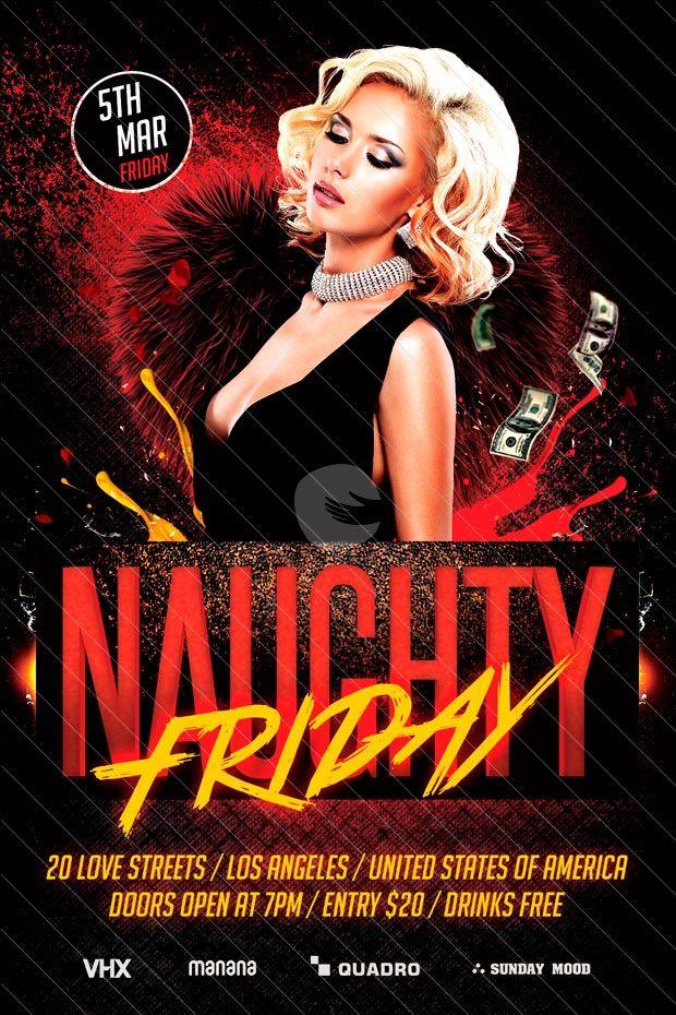 Friday Nightclub Flyer Heartpulsar
