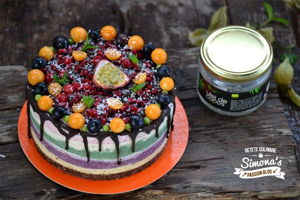 Simona's passion blog: Tort raw vegan cu fructe
