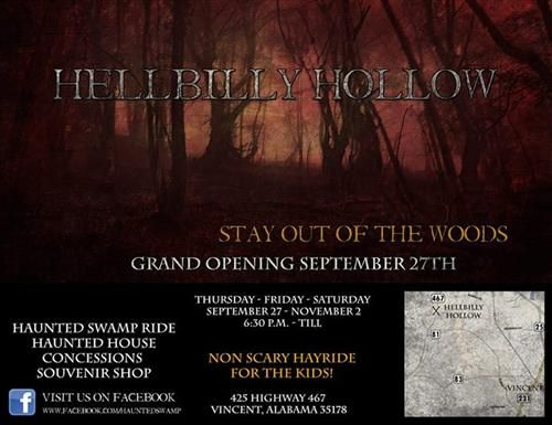 hellbilly hollow in vincent al alabama haunted houses - Halloween Attractions In Alabama