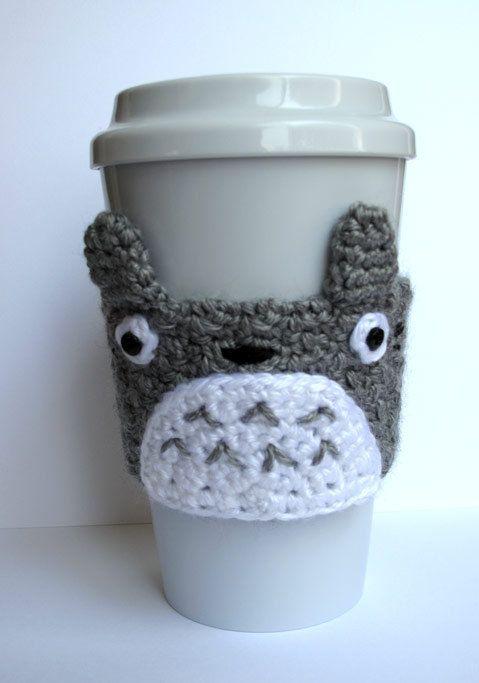 Ganchillo de Totoro taza de café acogedor