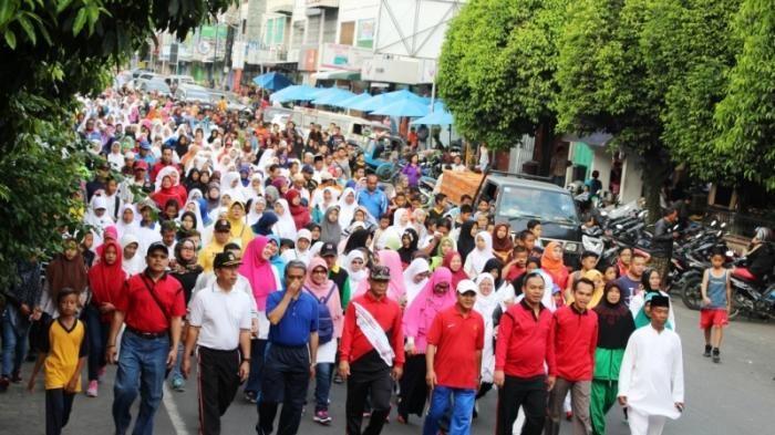 Begini Semarak Kota Siantar Peringati Tahun Baru Islam - Tribun Medan