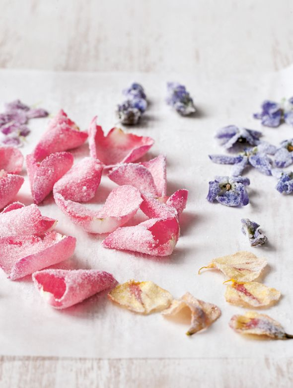 Crystallized Flowers Recipe (Can you just imagine these little lovelies strewn across cakes or cocktails?!)