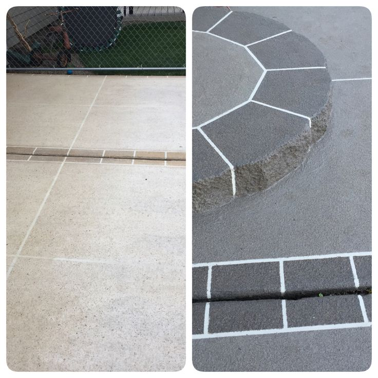 Before And After Our Patio Re Do Using Granite Grip