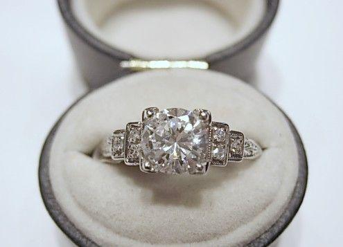Top 25 best 1950s engagement ring ideas on Pinterest Baguette