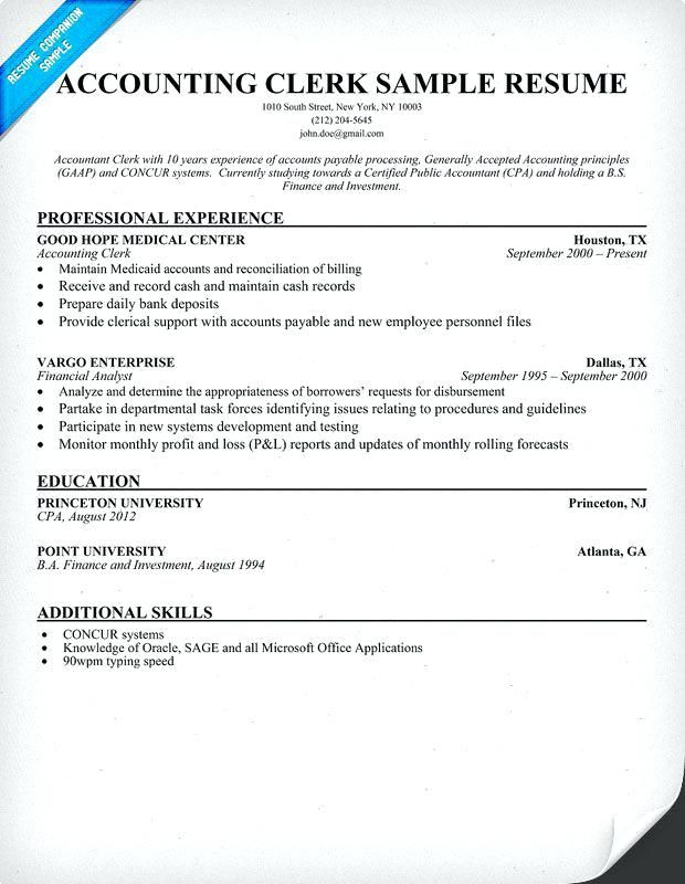Best 25+ Resume format for freshers ideas on Pinterest Resume - file clerk resume