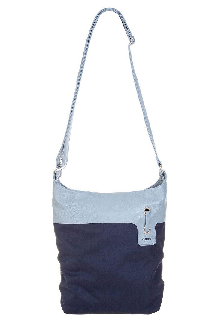Frauentaschen :: BONJOUR :: B12 | ZWEI Taschen Handtasche :: Nylon :: Materialmix :: blau :: lederfrei