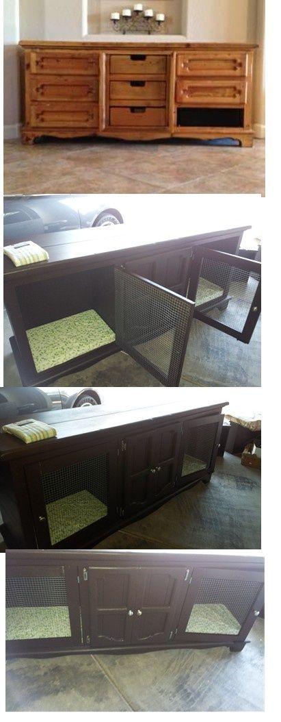 106 best images about dog bed kennel in cabinet ideas on pinterest. Black Bedroom Furniture Sets. Home Design Ideas