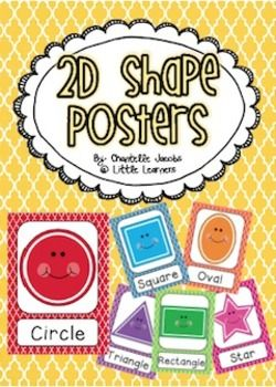FREE!!!! 2D Shape Posters ....Follow for Free 'too-neat-not-to-keep' literacy tools other fun teaching stuff :)