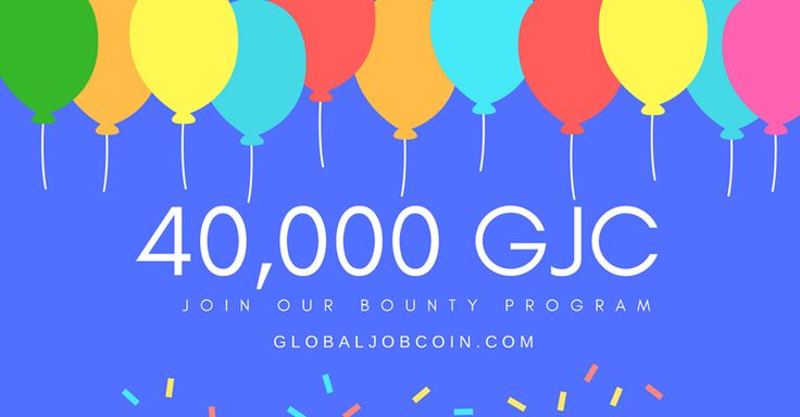🔊Join our bounty program 👉https://bitcointalk.org/index.php?topic=2208679.0👈 #globaljobcoin #ICO #bounty #cryptocurrency #news