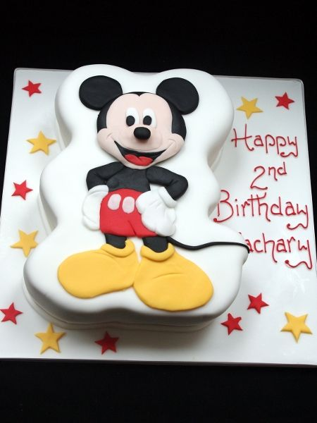Made This Adorable Mickey Mouse Cake For A Little Boys 2nd Birthday cakepins.com