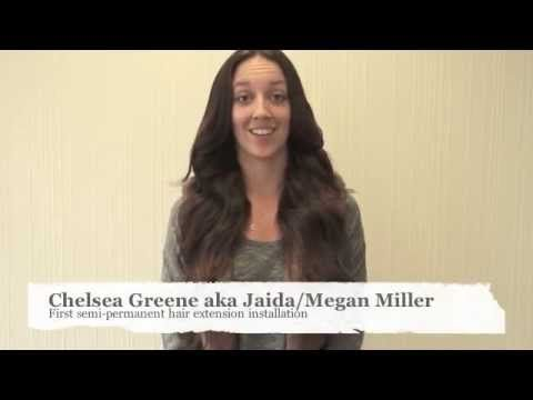 Chelsea Green aka Jaida pro-wrestler, WWE's Megan Miller tries out Pacific Hair's durable and long lasting hair extensions!