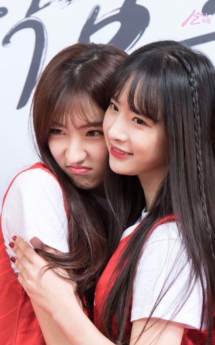 WJSN ♡ SeolA 설아 (Kim Hyunjung 김현정) &  EunSeo 은서 (Son JuYeon 손주연) at Busan KT Sonicboom Basketball game 161029 #부산kt소닉붐 #우주소녀 #땋은머리