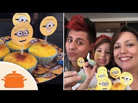 Cupcake dos Minions com Sarinha e Otávio - YouTube