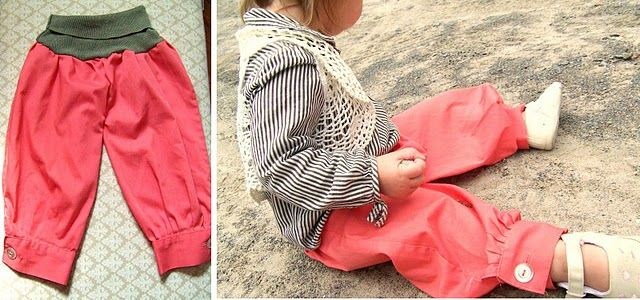 Awesome DIY baby harem pants. I want to drop everything and sew these RIGHT NOW.
