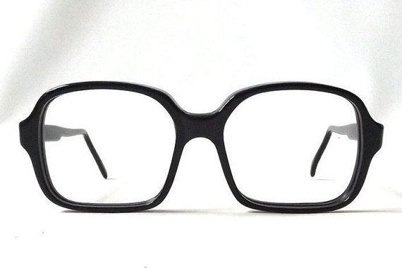 vintage 1950's NOS horn rim eyeglasses black by RecycleBuyVintage