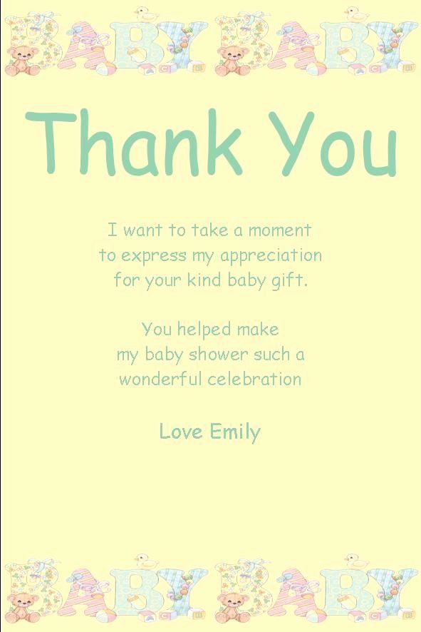 Baby Shower Thank You Letter Luxury Personalised Baby Shower Thank You Card Design 1 Baby Shower Thank You Cards Baby Shower Card Sayings Baby Shower Thank You