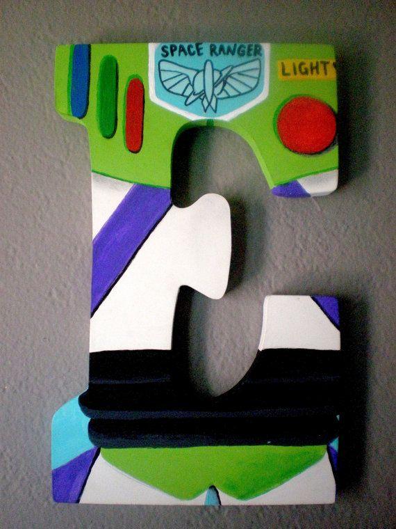 TOY STORY BUZZ Ligthtyear Disney Personalized Letter Monogram Wall Art