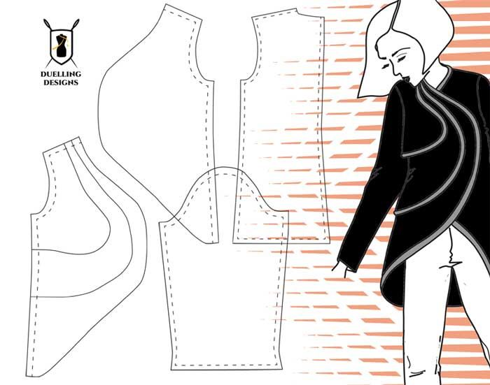 Curves Ahead – Patternmaking for the Second Chance Design Challenge on the Duelling Designs Blog www.duellingdesigns.com