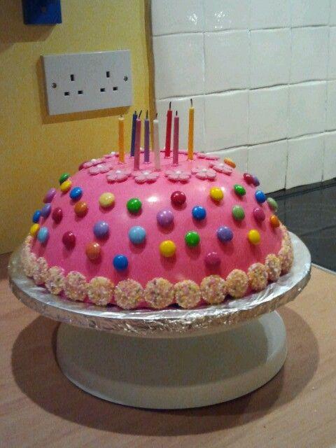 Pink Pinata Birthday Cake