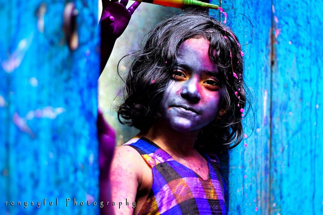 """Holi, Festival of colors "" in Dhaka, Bangladesh ~ by Syful Rony"
