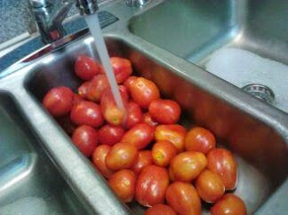 How to freeze tomatoes. You can freeze, then later use them in spaghetti, chili, stews and anything else that calls for tomatoes. They taste wonderful!