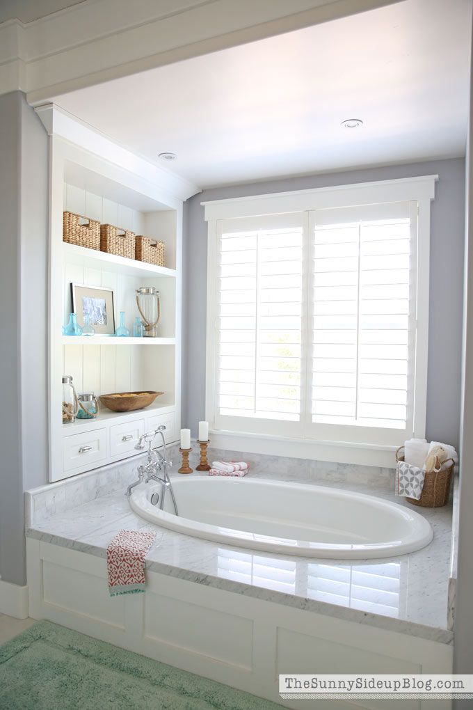 Our White Master Bathroom is ready for Spring! I'm so excited to share a few ways I get all of my bathrooms ready for Spring each year!