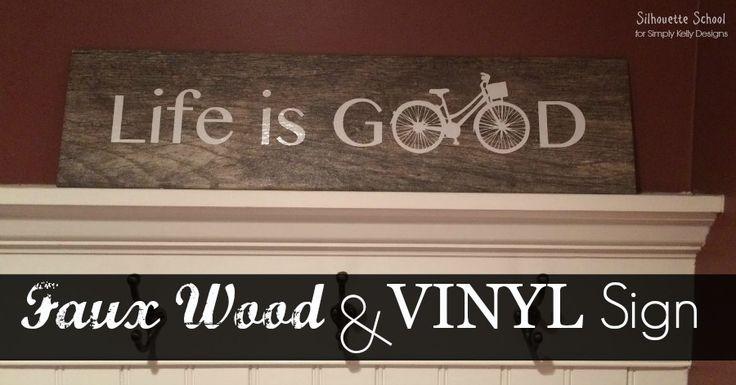 Wood Look Tile Signs with Vinyl Tutorial (Silhouette Tutorial) - Silhouette School