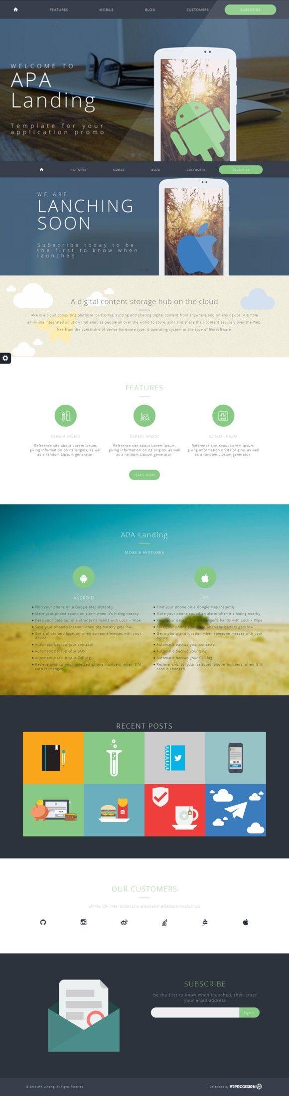 best ideas about apa template apa format apa landing html css themes 12 00