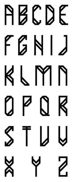 A simple font