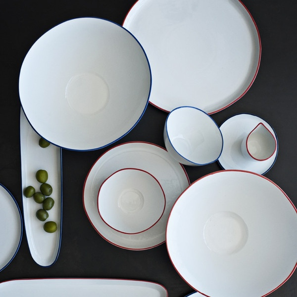 Abbesses Oblong Plate with Red Rim & Best 122 Plates + Dinnerware + Serveware ideas on Pinterest | Dishes ...