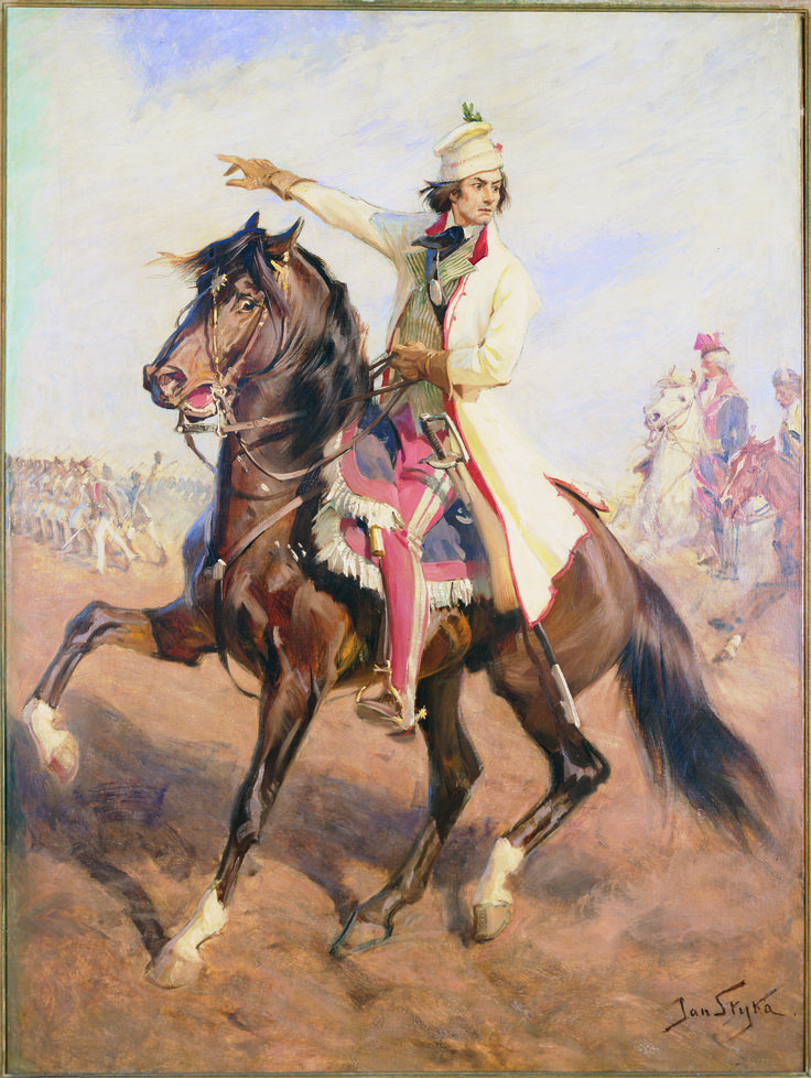 Kosciuszko at the Battle of Raclawice - by Jan Styka, ca. 1894; oil on canvas; acquired from Mr. Edward S. Witkowski