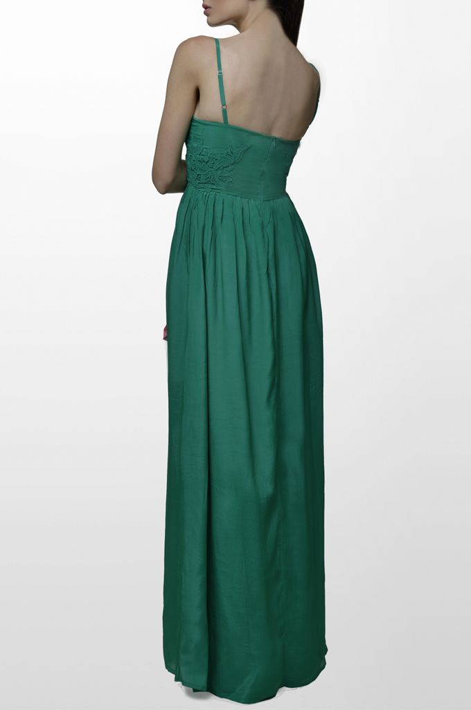 Sarah Lawrence - maxi dress with embroidery.