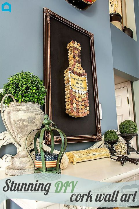 Stunning cork art wall decor made with love.