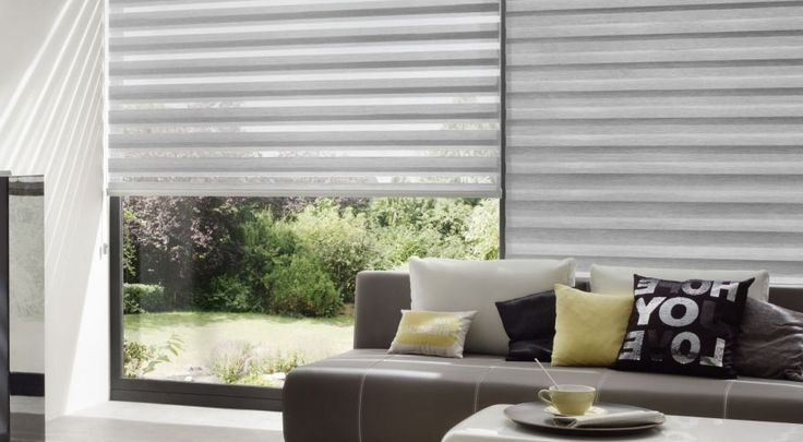 Zebra shades are a double cloth curtains, also known as Day-Night, Double Rollo or Cascade shades, are most popular modern windows coverings in Toronto