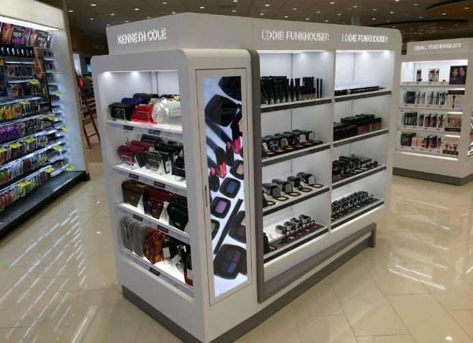 Adglow cosmetics store display