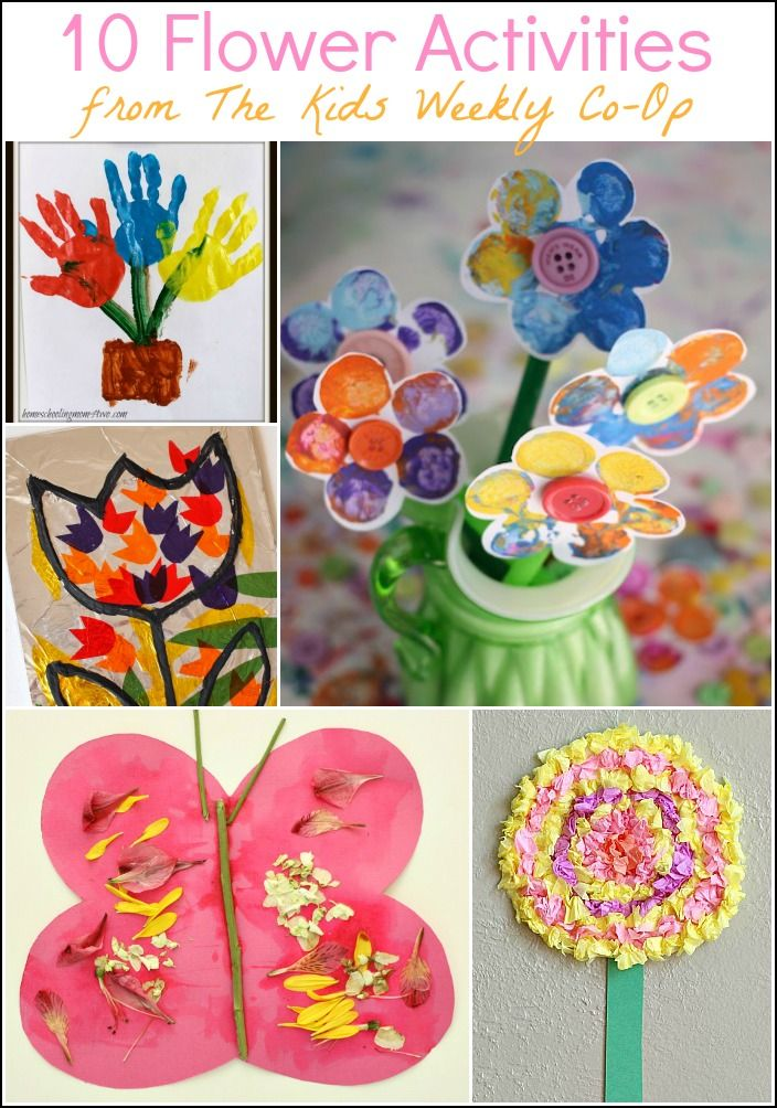 15 Flower Activities from The Kids Weekly Co-Op