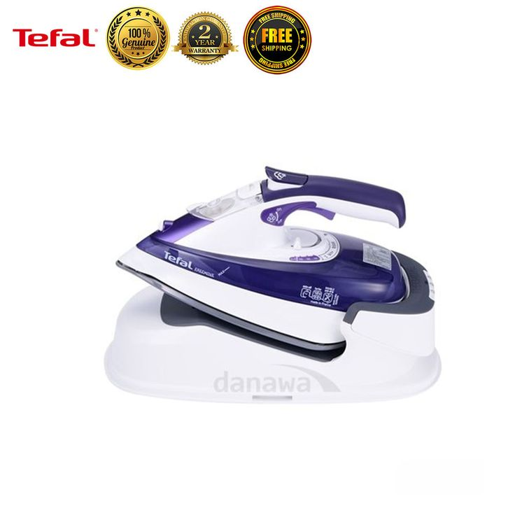 Tefal FV9990 Garment Steamer Fabric Cordless Steam Iron Clothes Laundry New #Tefal