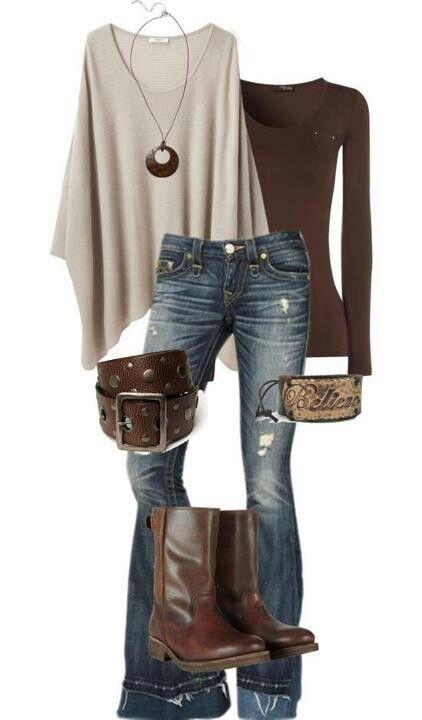 Love it I want those boots!